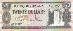 Guyane 20 dollars
