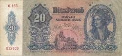 Hongrie 20 pengo