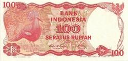 Indonésie 100 rupiah oiseau