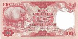 Indonésie 100 rupiah rhino
