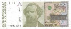 argentine 500 australes