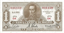 bolivie 1 peso