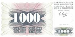 bosnie 1000 dinara