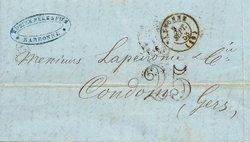pli lettre 5 sept 1853