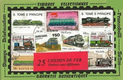 25 timbres TRAINS
