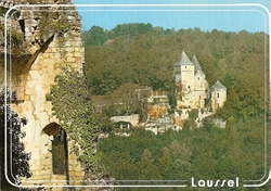carte postale chateau de laussel