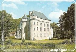 carte postale chateau de campagne le bugue