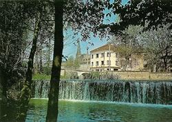 carte postale barrage au moulin eymet