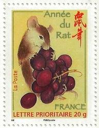 TIMBRE ANNEE DU RAT