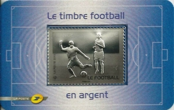timbre football argent