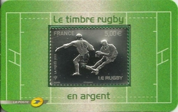timbre rugby argent