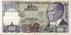BILLET TURQUIE 1000