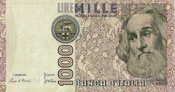 BILLET ITALIE 1000