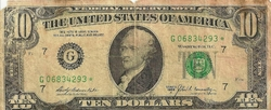 BILLET ETATS UNIS 10$