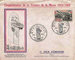 ENVELOPPE VICTOIRE MARNE 1964