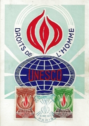 1975 CARTE MAXIMUM UNESCO
