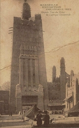 expo coloniale marseille 1922 grande tour