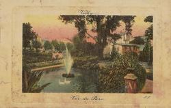 vichy vue du parc colorisee