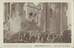 hebuterne eglise bombardee