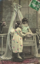 ENFANTS AU BERCEAU 1908