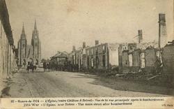 l'épine vue generale apres bombardements 1914
