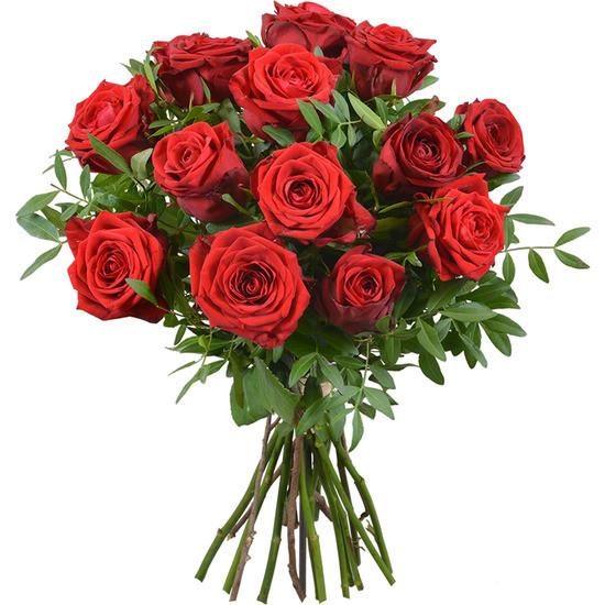 Bouquet de 15 Roses Moyennes Tiges