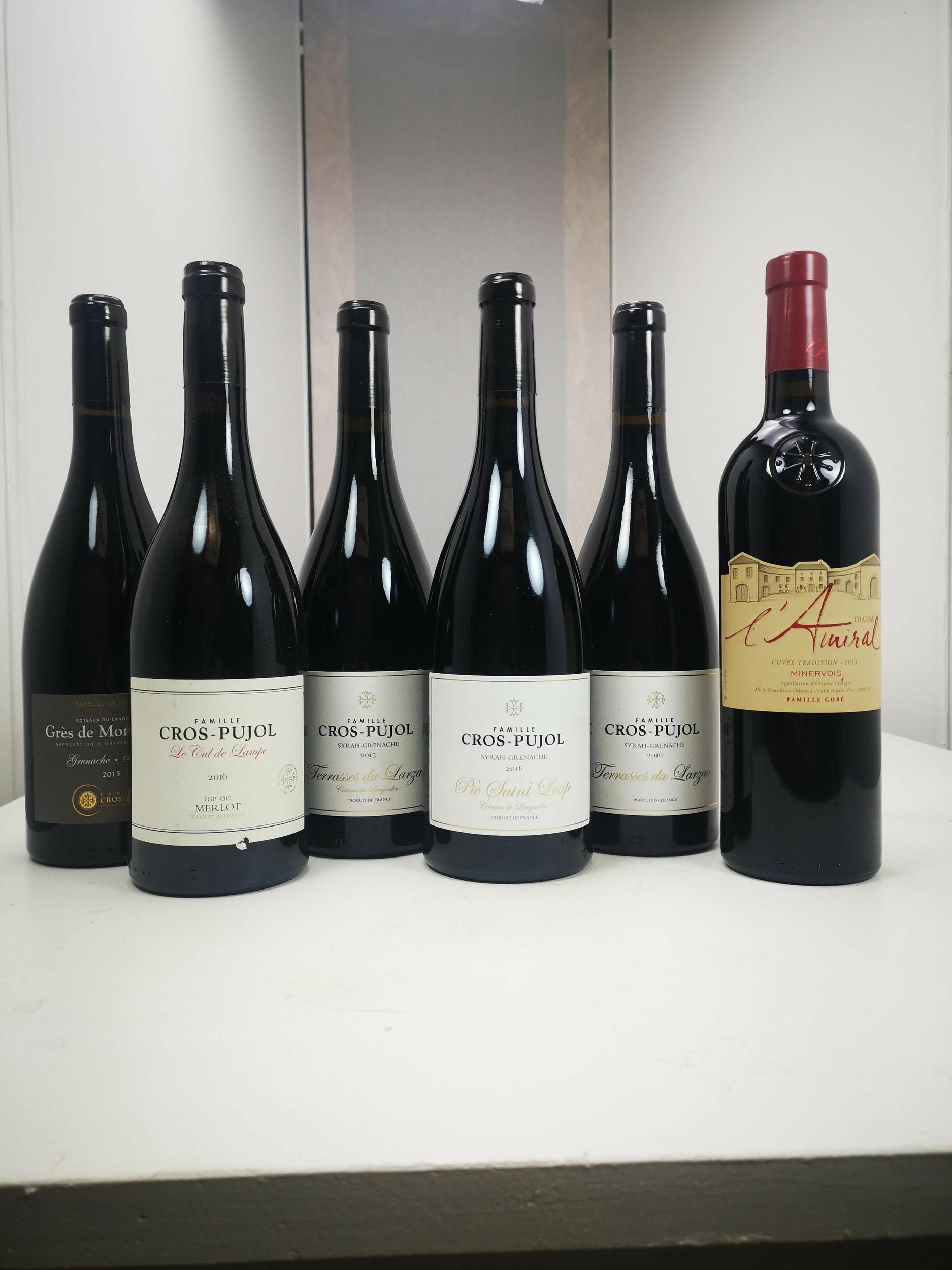 La selection de vin rouge
