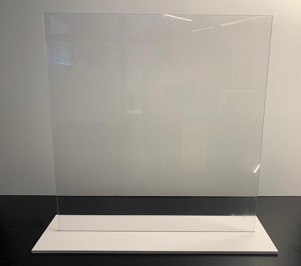 Hygiaphone Plexi (sans impression) Socle PVC
