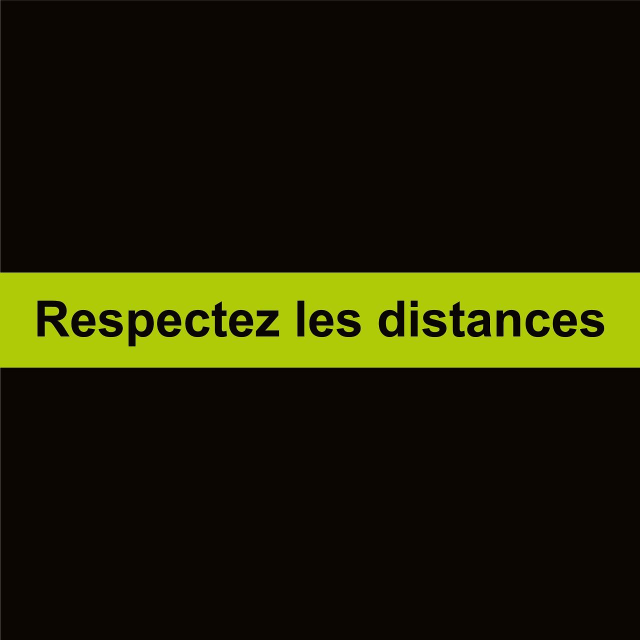 20 Bandes séparatives sol Respectez les distances