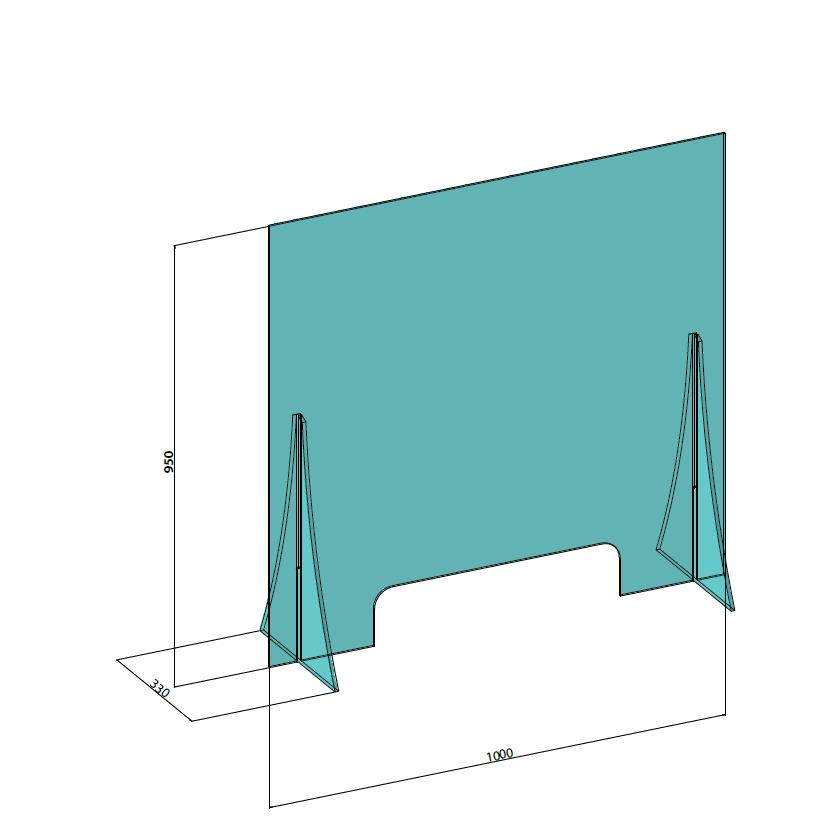 Hygiaphone Protection Frontale 95 cm Haut