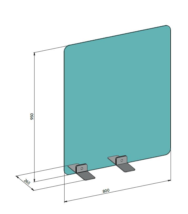 Hygiaphone Protection Latérale 95 cm Haut