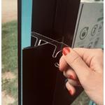 Clé plexiglass ouvre-porte