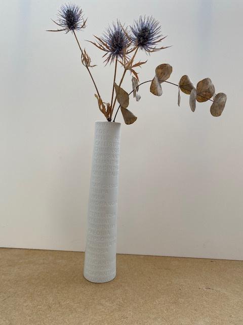 Vase blanc (ou soliflore), H 23cm