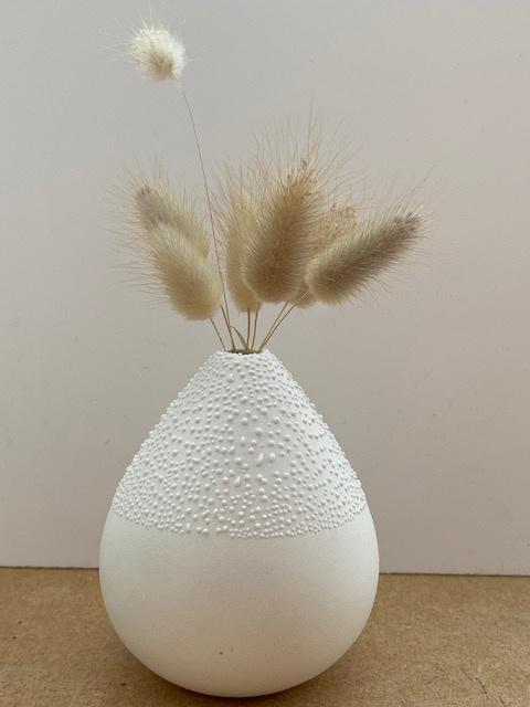 Vase blanc (blanc cassé)