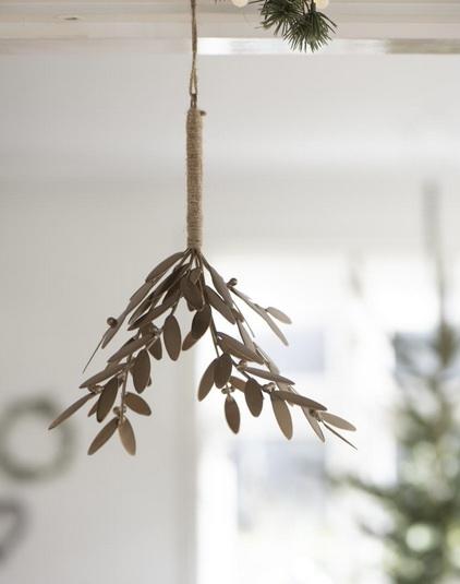Bouquet de gui en métal laiton