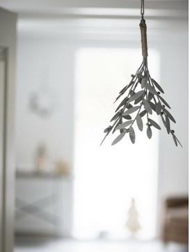 Bouquet de gui en zinc