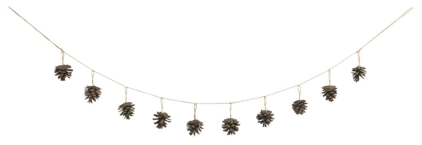 Guirlande corde Pommes de Pin