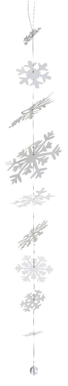 Guirlande Flocons Neige papier bille de verre