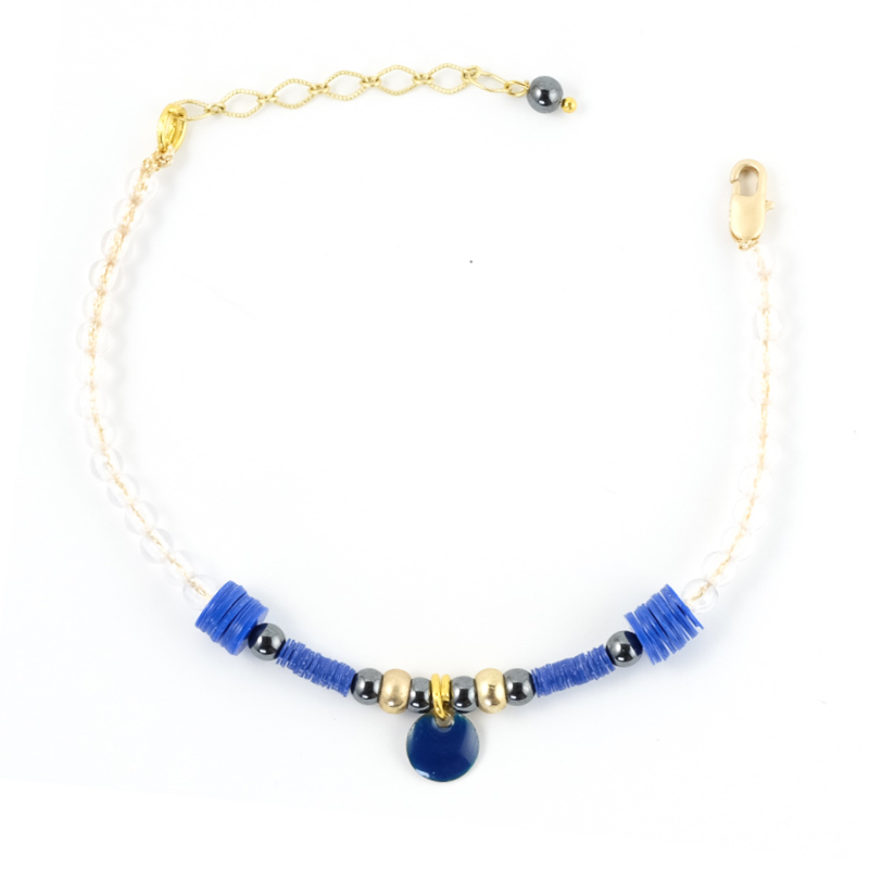 Bracelet bleu+gris / Collection ETHNIK