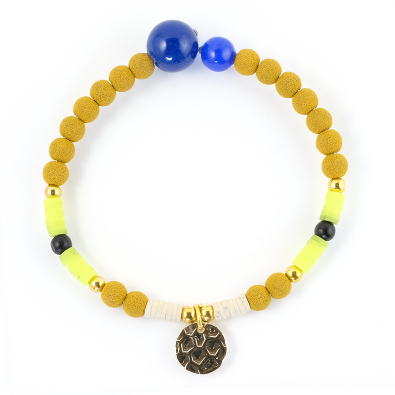 Bracelet jaune+moutarde / Collection FOGO