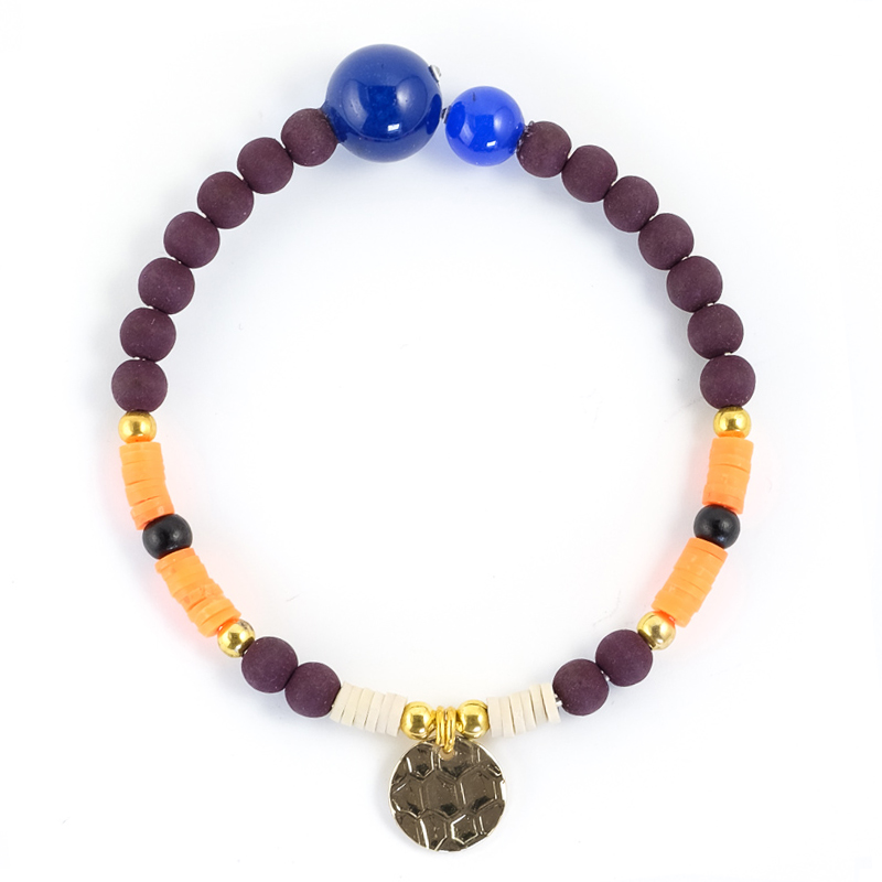 Bracelet orange+bordeaux / Collection FOGO