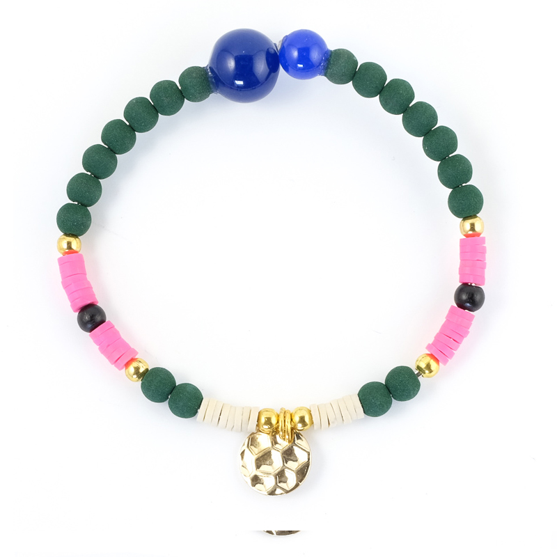 Bracelet rose+vert / Collection FOGO
