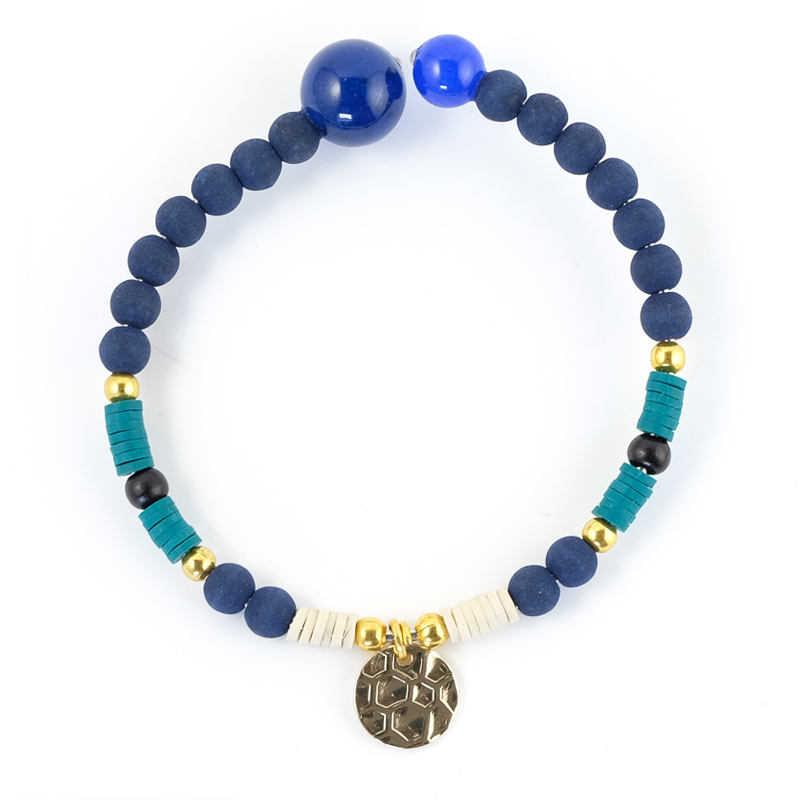 Bracelet bleu+bleu / Collection FOGO
