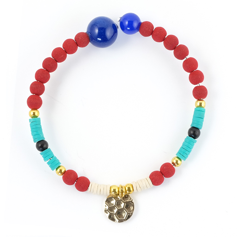 Bracelet turquoise+rouge / Collection FOGO