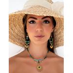 etoile_solaire_collier_bdo_turquoise_cyan_noir