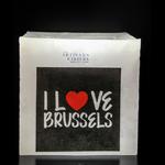 Les Artisans Cirier Bruxellois Bougie Photophores Carrés I love Brussels