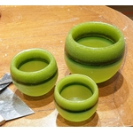 Les Artisans Ciriers Bruxellois Bougie Photophore Globe Coloré Vert Olive