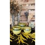 Les Artisans Ciriers Bruxellois Bougie Photophore Globe Vert Olive (1)