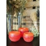 Les Artisans Ciriers Bruxellois Bougie Photophore Globe  Coloré Orange (2)