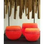 Les Artisans Ciriers Bruxellois Bougie Photophore Globe  Coloré Orange (1)